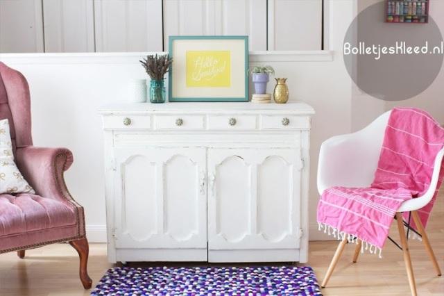 Bolletjes-tapijt-paars-Royal-woonkamer-Purple-rechthoekig