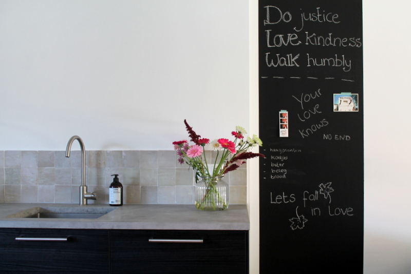 Mega krijtbord in de keuken inge bruins interior business